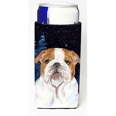 Starry Night English Bulldog Michelob Ultra bottle sleeves for slim cans 12 oz.