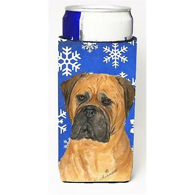 Bullmastiff Winter Snowflakes Holiday Michelob Ultra bottle sleeves For Slim ...
