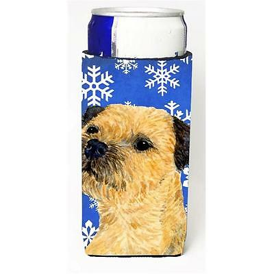 Border Terrier Winter Snowflakes Holiday Michelob Ultra bottle sleeves For Sl...