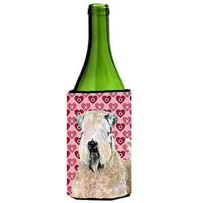 Wheaten Terrier Soft Coated Hearts Love Valentines Wine bottle sleeve Hugger ...