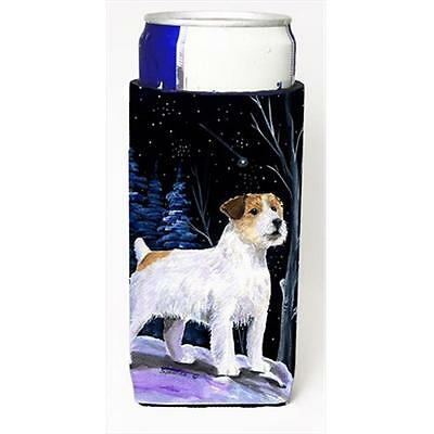 Starry Night Jack Russell Terrier Michelob Ultra bottle sleeves For Slim Cans