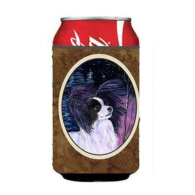 Carolines Treasures Starry Night Papillon Can Or bottle sleeve Hugger 12 oz.