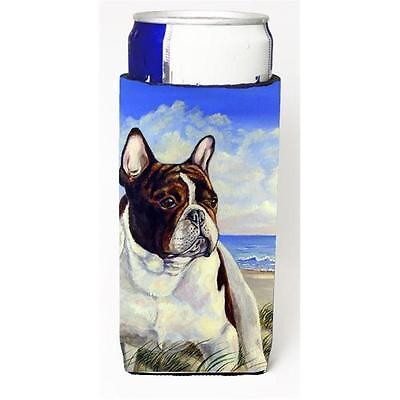 French Bulldog At The Beach Michelob Ultra bottle sleeves For Slim Cans 12 oz.