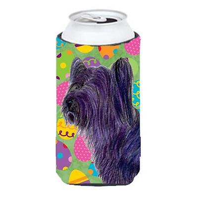 Skye Terrier Easter Eggtravaganza Tall Boy bottle sleeve Hugger 22 To 24 oz.