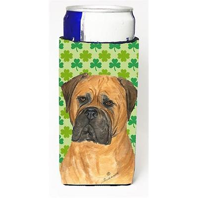 Bullmastiff St. Patricks Day Shamrock Portrait Michelob Ultra bottle sleeves ...