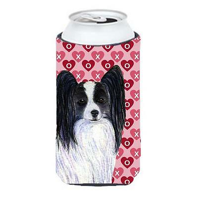 Papillon Hearts Love And Valentines Day Portrait Tall Boy bottle sleeve Hugger