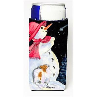Snowman With Papillon Michelob Ultra bottle sleeves For Slim Cans 12 Oz.