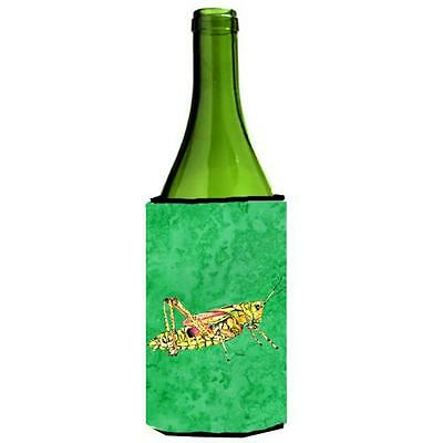 Carolines Treasures Grasshopper On Green Wine bottle sleeve Hugger 24 oz.