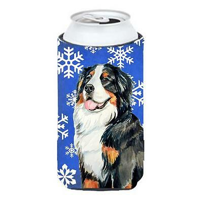 Bernese Mountain Dog Winter Snowflakes Holiday Tall Boy bottle sleeve Hugger ...