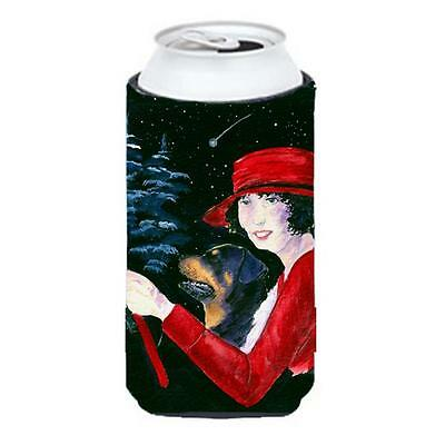 Lady Driving With Her Rottweiler Tall Boy bottle sleeve Hugger 22 To 24 oz.