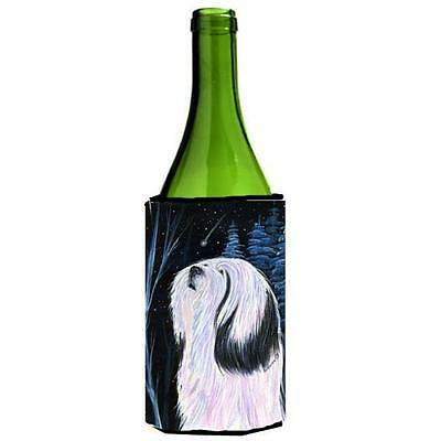 Carolines Treasures Tibetan Terrier Wine bottle sleeve Hugger 24 oz.