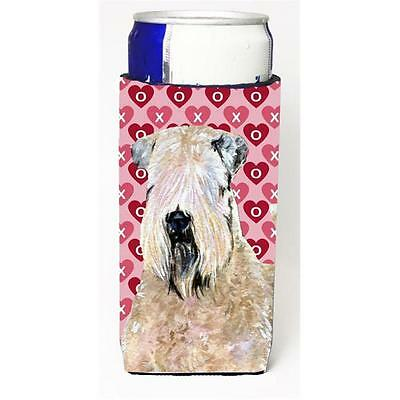 Wheaten Terrier Soft Coated Hearts Love Valentines Michelob Ultra bottle slee...