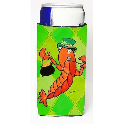 Crawfish St Patricks Day Michelob Ultra bottle sleeve for Slim Can