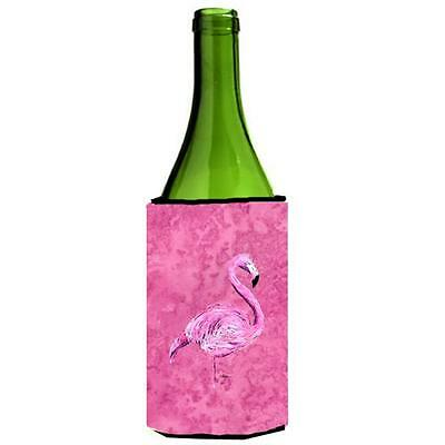 Carolines Treasures 8875LITERK Flamingo On Pink Wine bottle sleeve Hugger 24 oz.