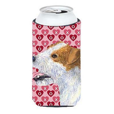 Jack Russell Terrier Hearts Love Valentines Day Tall Boy bottle sleeve Hugger