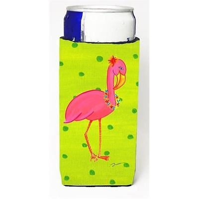 Carolines Treasures LD6153MUK Flamingo Michelob Ultra bottle sleeve for Slim Can