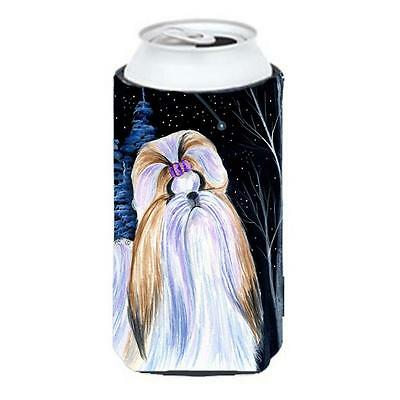Carolines Treasures Starry Night Shih Tzu Tall Boy bottle sleeve Hugger