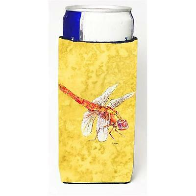 Dragonfly On Yellow Michelob Ultra bottle sleeves For Slim Cans 12 oz.