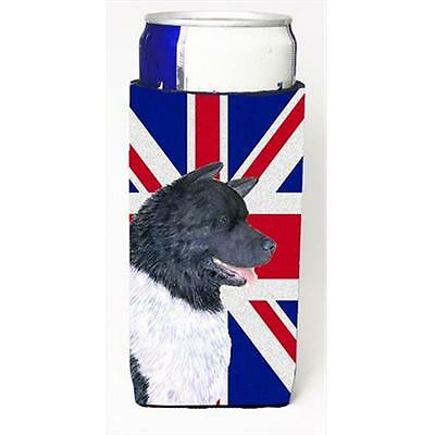 Akita With English Union Jack British Flag Michelob Ultra bottle sleeves For ...