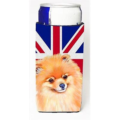 Pomeranian With English Union Jack British Flag Michelob Ultra bottle sleeves...