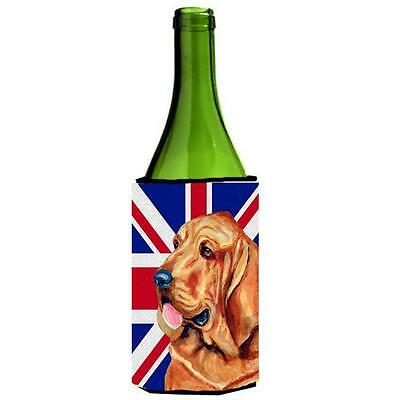 Bloodhound With English Union Jack British Flag Wine bottle sleeve Hugger 24 Oz. • AUD 48.26