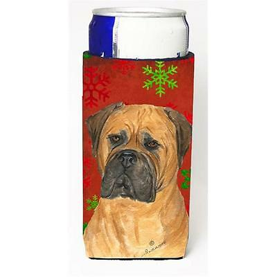 Bullmastiff Red And Green Snowflakes Holiday Christmas Michelob Ultra bottle ...