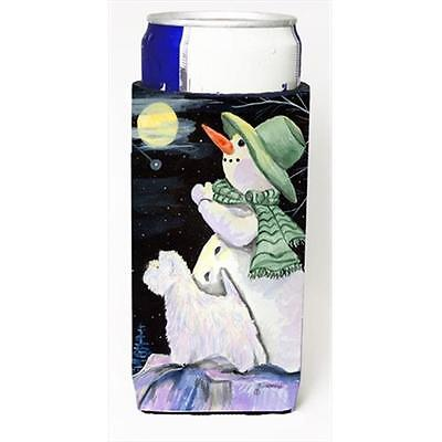 Snowman With Westie Michelob Ultra bottle sleeves For Slim Cans 12 Oz.