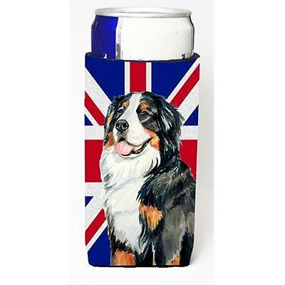 Bernese Mountain Dog With English Union Jack British Flag Michelob Ultra bott...