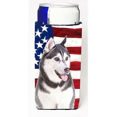 USA American Flag with Alaskan Malamute Michelob Ultra bottle sleeves for sli...