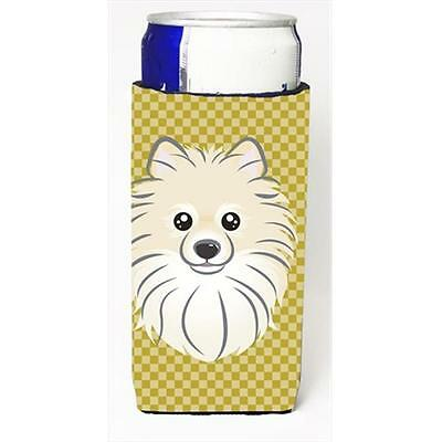 Tan Checkered Pomeranian Michelob Ultra bottle sleeves for slim cans