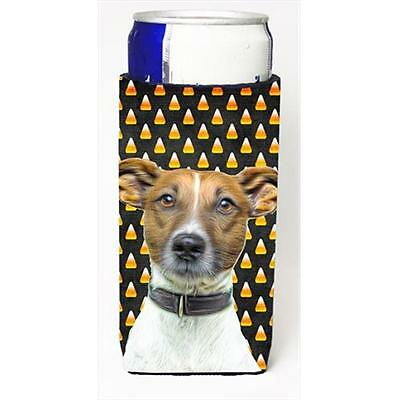 Candy Corn Halloween Jack Russell Terrier Michelob Ultra bottle sleeves for s...
