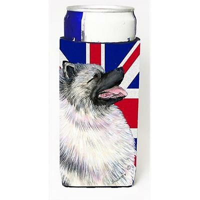 Keeshond With English Union Jack British Flag Michelob Ultra bottle sleeves F...