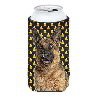Candy Corn Halloween German Shepherd Tall Boy bottle sleeve Hugger