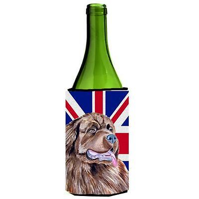 Newfoundland With English Union Jack British Flag Wine bottle sleeve Hugger 2...