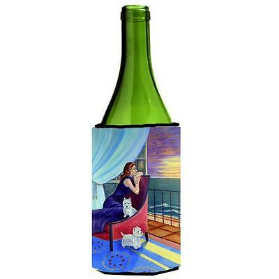 Carolines Treasures Lady With Her Westie Wine bottle sleeve Hugger 24 oz.