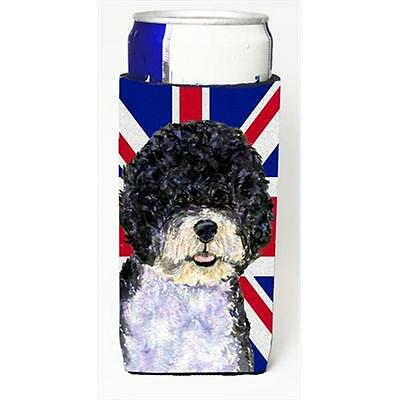 Portuguese Water Dog With English Union Jack British Flag Michelob Ultra bott...