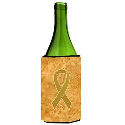 Gold Ribbon for Childhood Cancers Awareness Wine bottle sleeve Hugger 24 Oz. • AUD 48.26