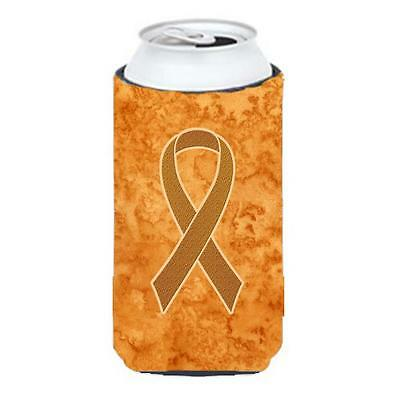 Orange Ribbon for Leukemia Awareness Tall Boy bottle sleeve Hugger 22 To 24 Oz.