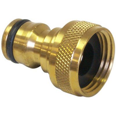 "Ck 5/8"" Solid Brass Threaded Tap Connector For 1/2"" Hose - G7915 62"