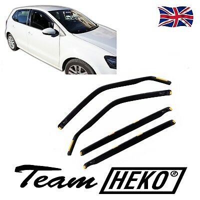 DVW31178 VW POLO 6R 5 DOOR 2009-2017 WIND DEFLECTORS 4pc  HEKO TINTED