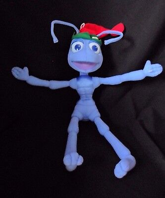 "A Bugs Life  Flik 16"" Disney  Plush Christmas Stuffed Animal -1998 Mattel"