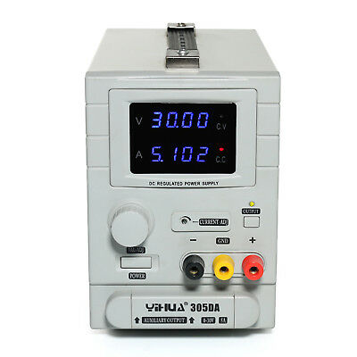 Yh-305Da Adjustable Linear Dc Power Supply For Lab 30V 5A Variable Uk Warranty