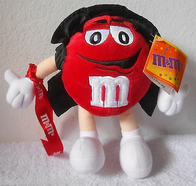 """Galerie M&M's Red Vampire 9"""" Halloween Plush - NEW with Tags NO CANDY 2002"""