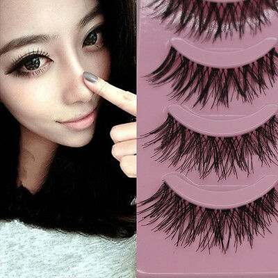 5 Pairs Makeup Handmade Natural Thick False Eyelashes Eye Lashes Extension u6