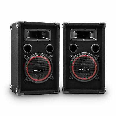 2x DJ/PA LAUTSPRECHER PARTY BOXEN BASS 20CM SUBWOOFER 1000W SOUND SPEAKER PAAR