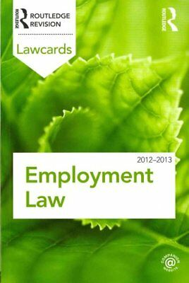 Employment Lawcards 2012-2013 by Routledge (Paperback, 2011)