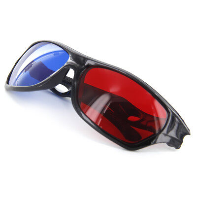 1 x Black Frame Red Blue 3D Glasses For Dimensional Anaglyph Movie Game DVD TV