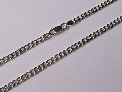 "3.5mm Sterling Silver Curb chain 16"", 18"", 20"", 22"", 24"", 28"""