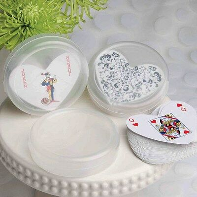 75 Plain / DIY Collection Heart Shaped Playing Cards Wedding Shower Favors
