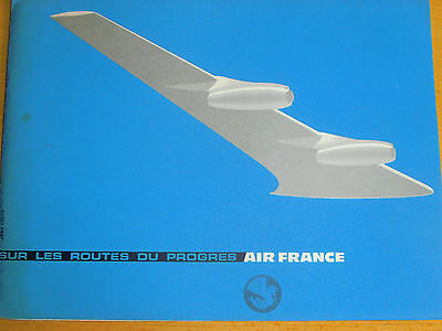 catalogue aviation - AIR FRANCE année 1958 ( ref 12 )